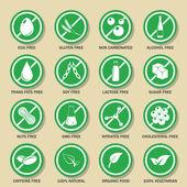 Allergen-Icons Vektor-Satz