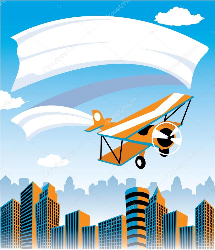 Biplane Advertisement
