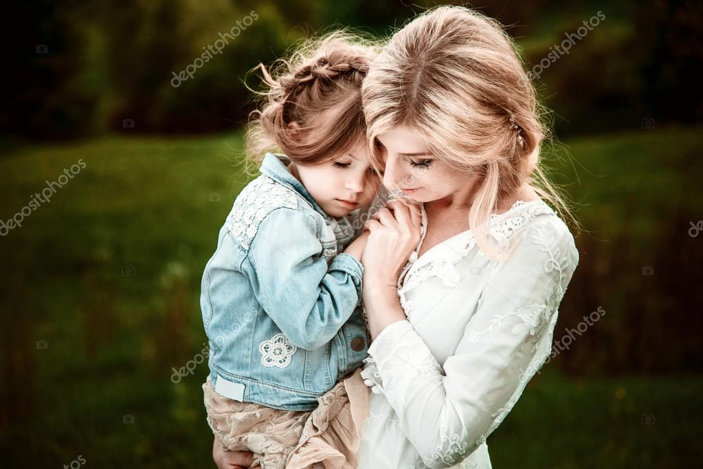 A mother and child in nature