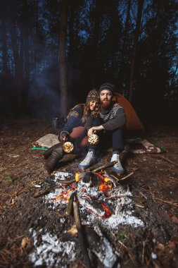 Couple of hikers fried marmalade