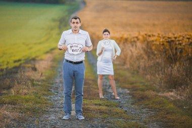 Beautiful young wedding couple stock vector