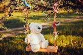 Fotografie krásný bílý medvídek