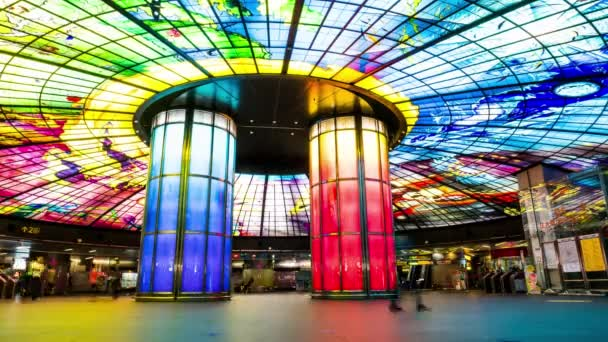Kaohsiung City, Taiwan - June 18, 2015: The Dome of Light at Formosa Boulevard Station, the central station of Kaohsiung subway system in Kaohsiung City, Taiwan.