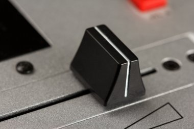 Cross fader of a DJ mixer