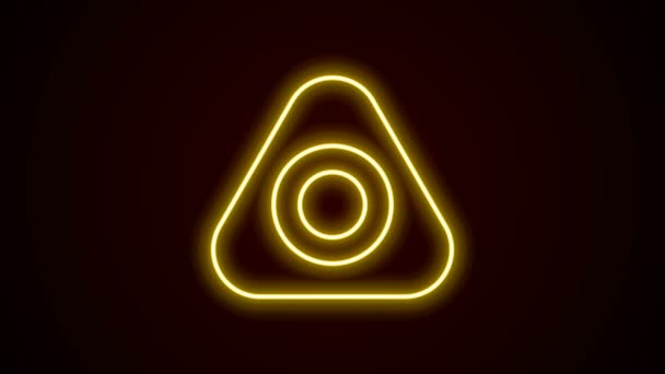 Glowing neon line Sewing chalk icon isolated on black background. 4K Video motion graphic animation
