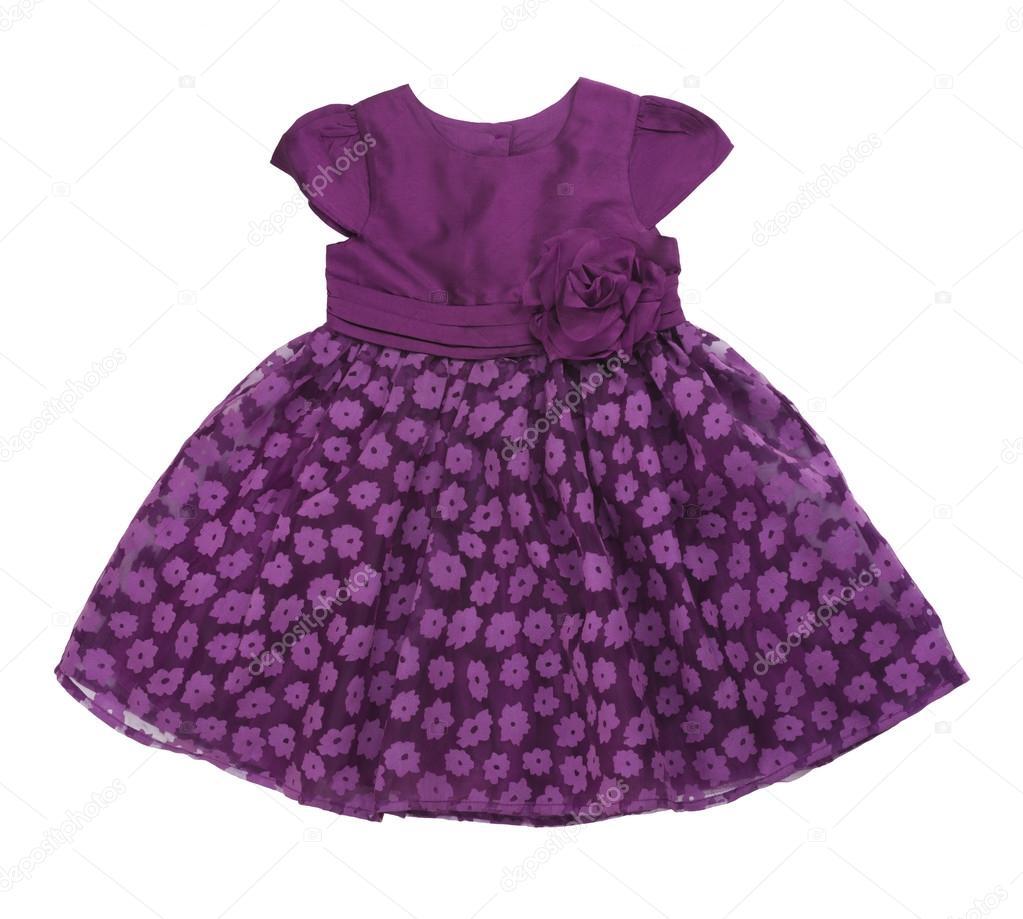 Vestido púrpura del bebé — Foto de stock © didecs #95572776