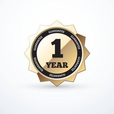 1 year guarantee gold sign