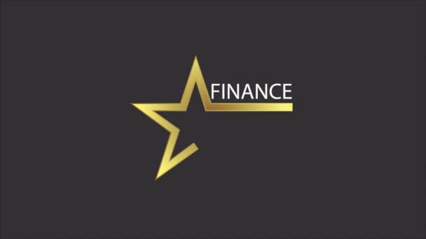 Pénzügyi klub csillag logó, art video illusztráció.
