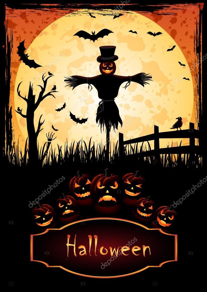Scarecrow Halloween — Stock Vector © Kraft2727 #53702591