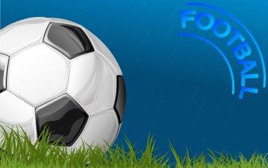 Football during rain