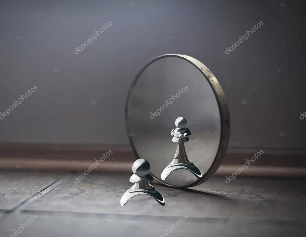 Pawn In The Mirror Stock Vector 169 Kraft2727 57675609
