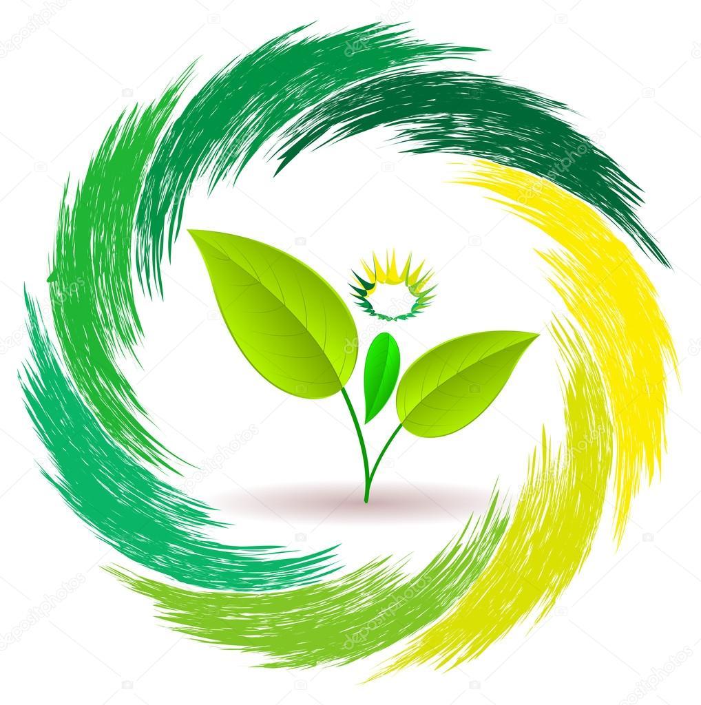 Logo person plants