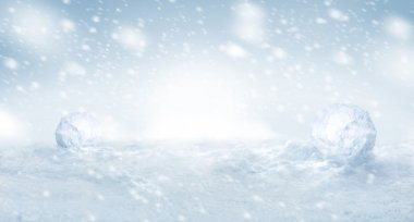 Nice winter snow background with copyspace