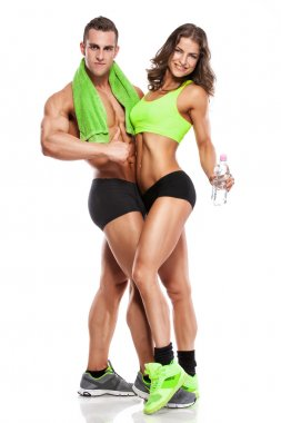 Beautiful young sporty sexy couple
