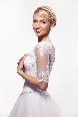 Beautiful woman in wedding dress