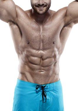 Athletic Man Fitness Model Torso