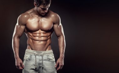 Man Fitness Model Torso showing six pack abs