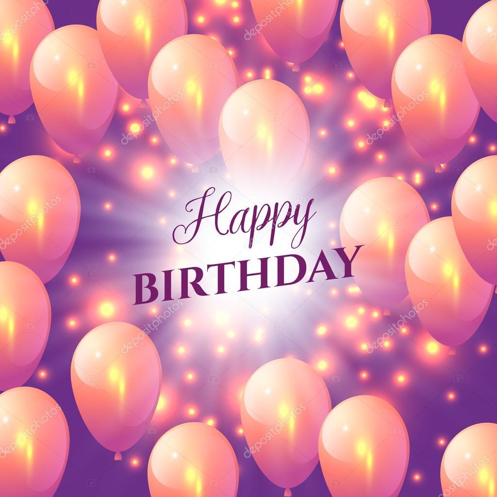 bilder födelsedagskort Födelsedagskort med ballonger — Stock Vektor © artskvortsova  bilder födelsedagskort