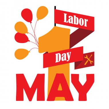 May 1st Labor Day background
