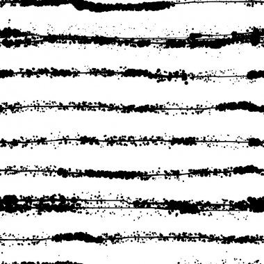 Grunge Vector Brush Strokes Striped Seamless Pattern. Vibrant geometric lines background. Hand drawn stripes pattern for print, textile design, fashion. Distress painted texture. Black and white