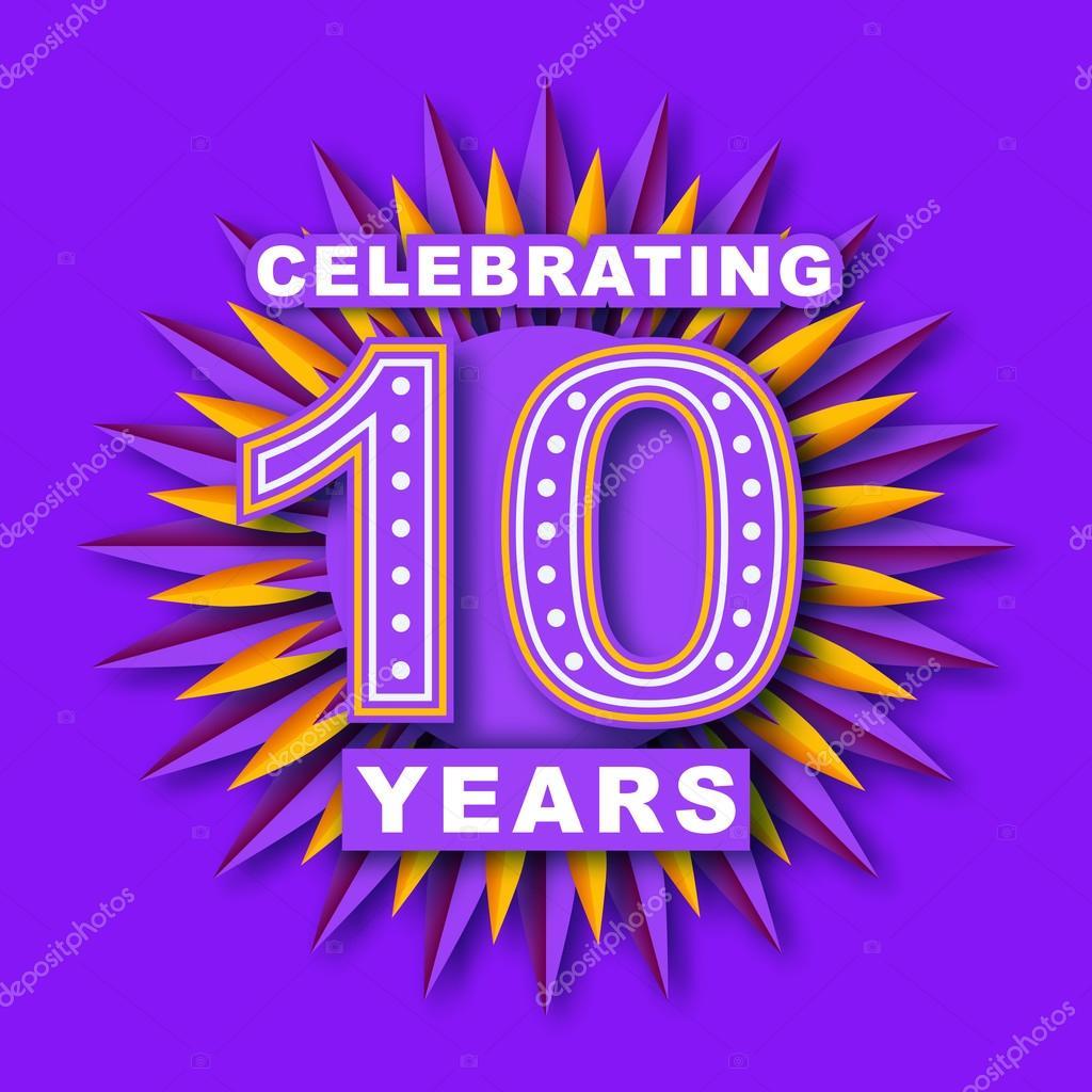 Celebration Ten Years Symbol Artskvortsova