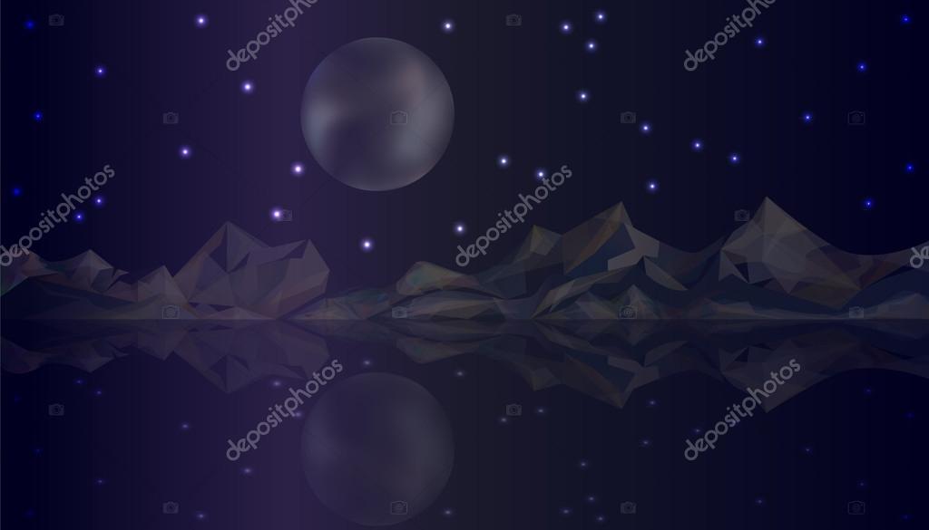 Night nature landscape