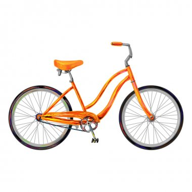 Orange retro bike