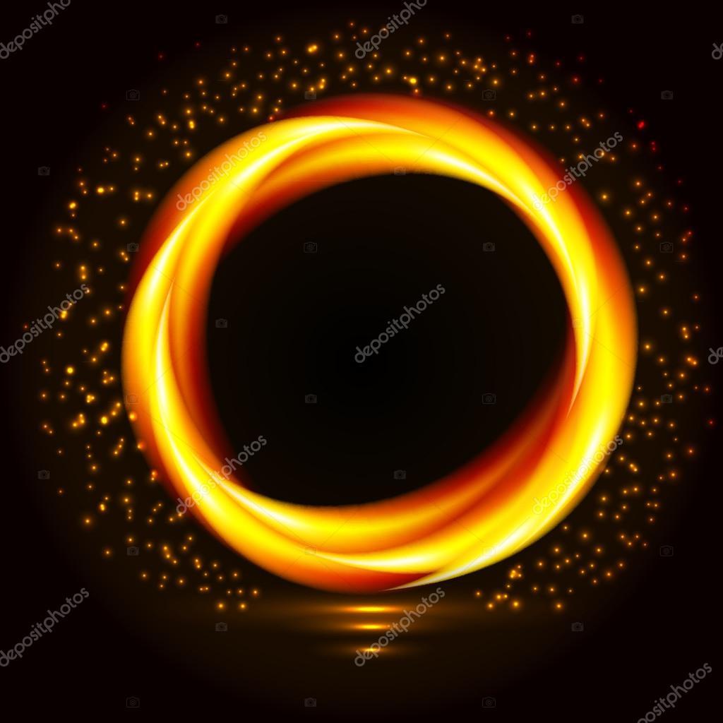 Marco Controls Flames: Llama De Fuego En Marco Circular