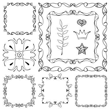 Decorative elements. Angle design.