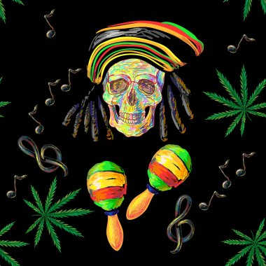 Music Rastafarian pattern