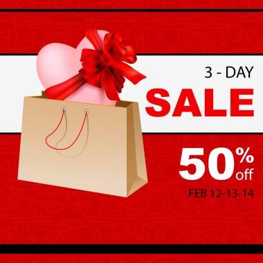 Valentine`s day sale banner