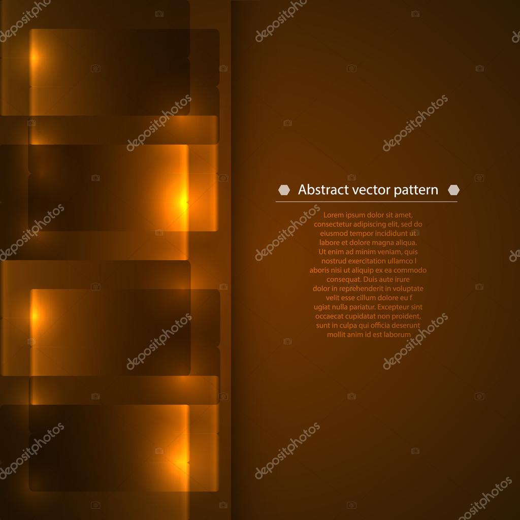 Abstract geometric pattern with backlight. illumination