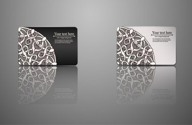 template Gift card, credit card, business card, an invitation, a document with circular patterns