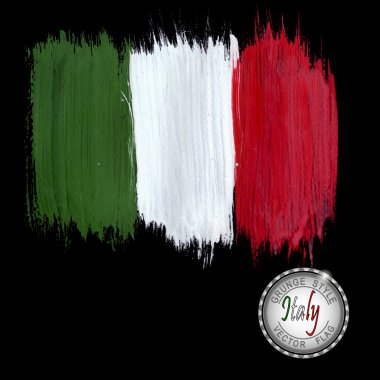 Painted grunge Italy flag