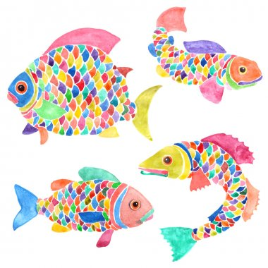 decorative cartoon fish