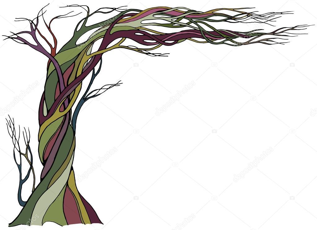 Antiguo árbol desnudo — Archivo Imágenes Vectoriales ...