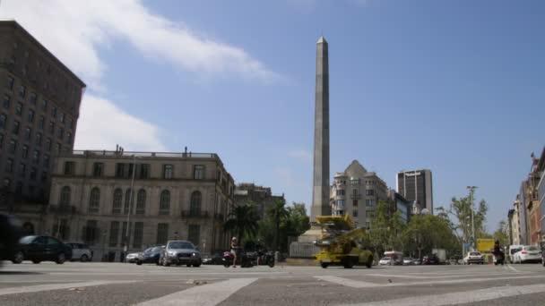 Městská vozidla krajina v Barceloně časová prodleva