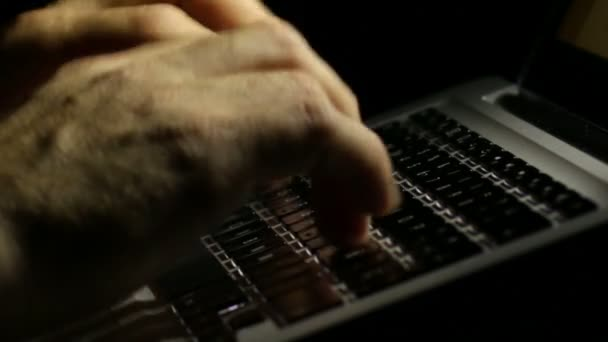 Laptop-Tastatur Eingabe spät in die Nacht