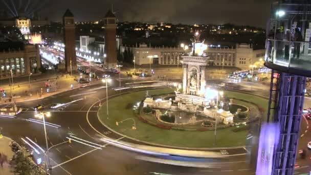 Dav Fira de Barcelona náměstí v noci