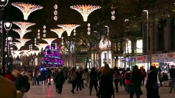 Barcelona vánoční pouliční světla dekorace
