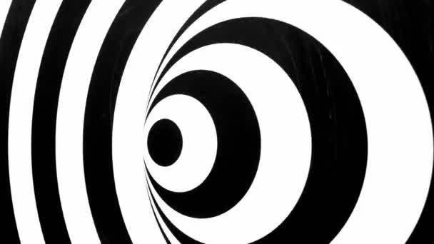Schwarz-weiße Spirale dreht sich