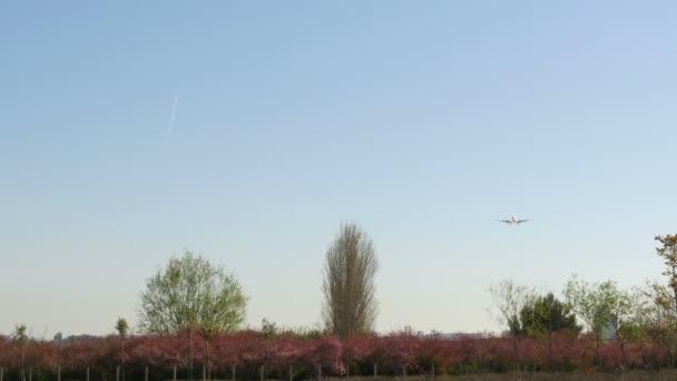 Tryskové letadlo Boeing 737 - 6d 6 se blíží přistání