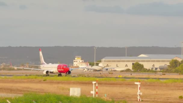 PALMA DE MALLORCA, BALEARIC ISLANDS, SPAIN. SON SANT JOAN AIRPORT TRAFFIC IN SUMMER 2015. Palma de Mallorca airport is the busiest airport in passenger traffic in southern Europe, Spain on August 7, 2015