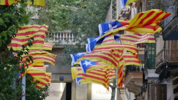 Secessionist Independence Catalonian Flagstaff in a Windy Day