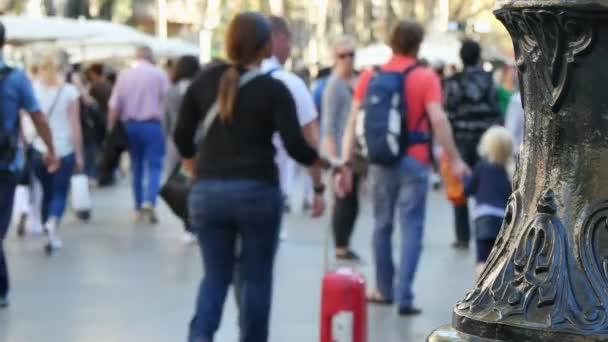 Centrum města Barcelona v podzimní prázdniny