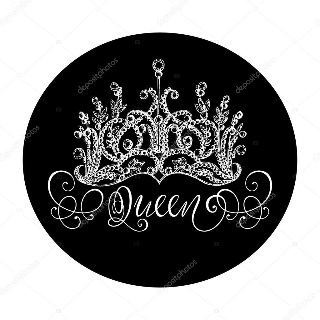 Queen crown with lettering — Stock Vector © Anna_Zubkova #104966668