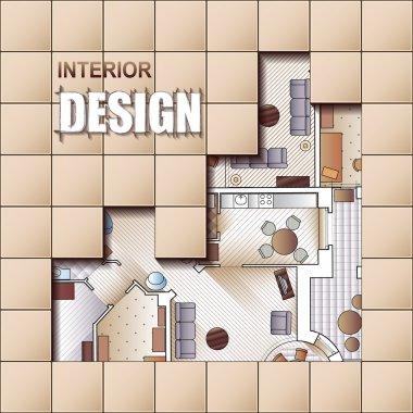 Background for design of interiors