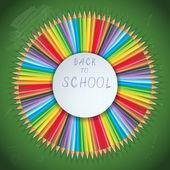 zpátky do školy pozadí s tužky