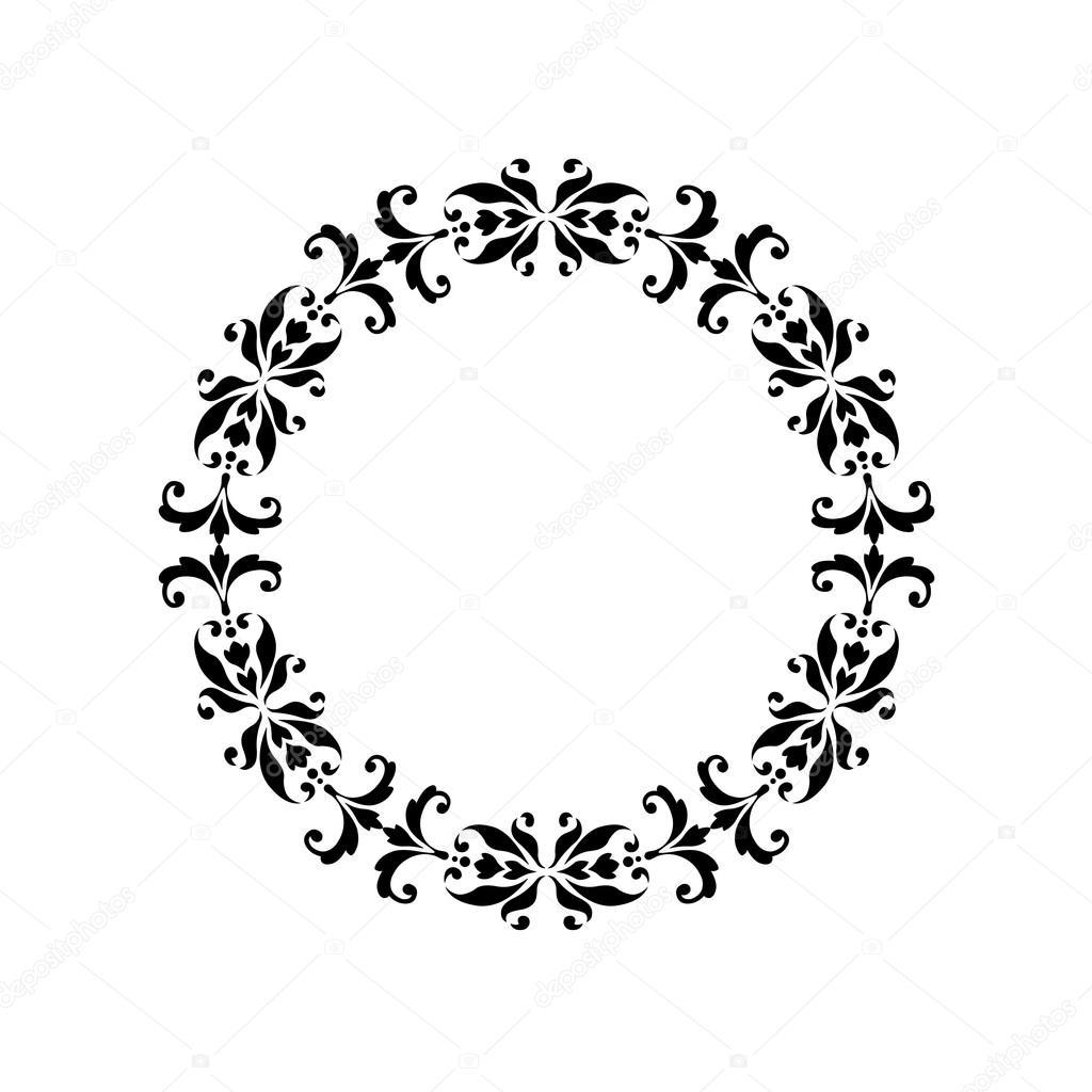 black ornate damask frame illustration — Stock Vector © scrapster ...