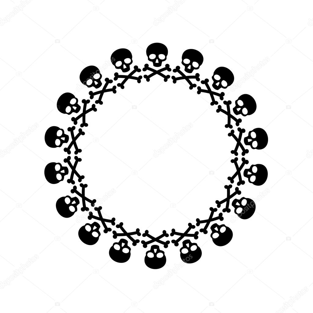 black skull and cross bones frame — Stock Vector © scrapster #119971256